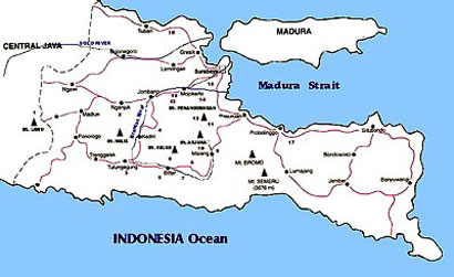 Majapahit map on East Jawa